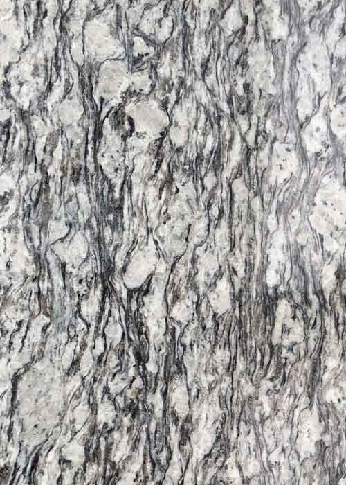 Polished Flamed Granite Stone Slabs Spray White Seawave Flower G708 Countertop