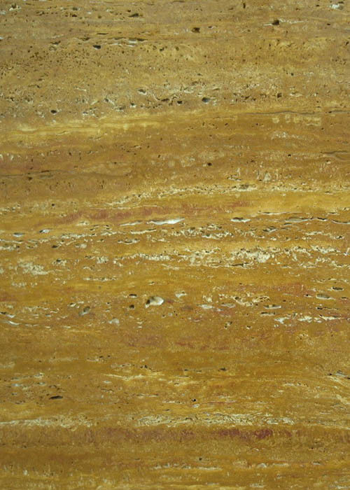 Gold Travertine Yellow Gloss Marble Floor Tiles Polished CE Certification